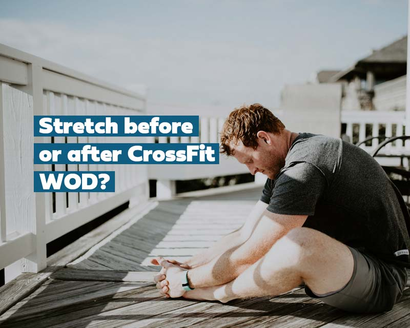 man stretching after a crossfit workout