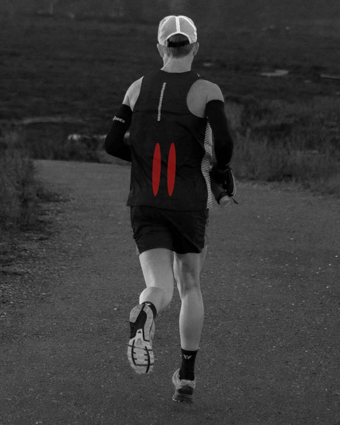 runner with lumbar sprain strain low back pain