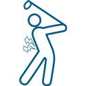 Golf injury icon