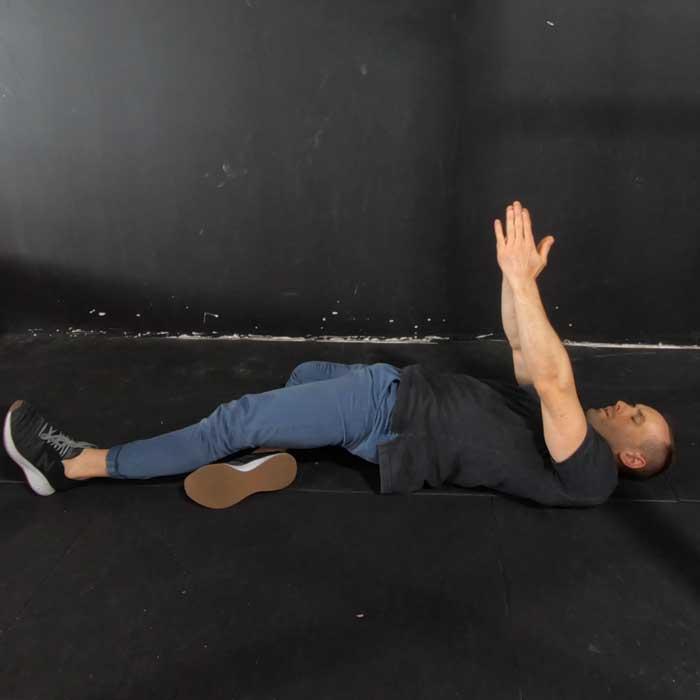 figure-4 horizontal bridge exercise