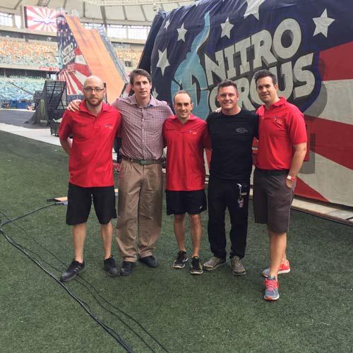 sports chiropractors at the nitro circus