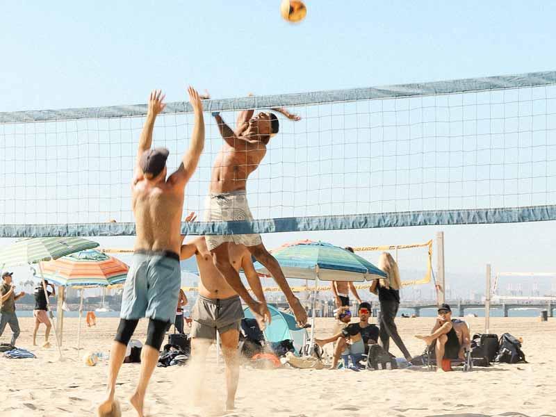 beach volley ball spike