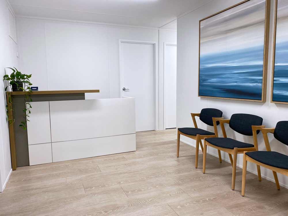 Chiropractor newmarket reception area